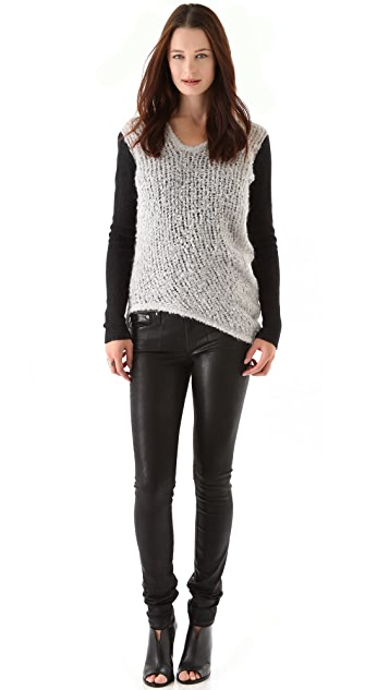 Helmut Lang Plaited Boucle Sweater