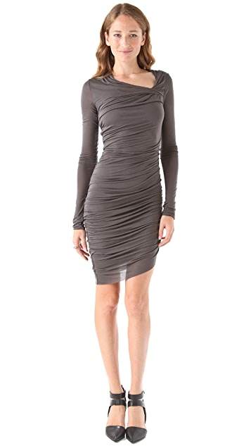 Helmut Lang Slack Jersey Twist Dress
