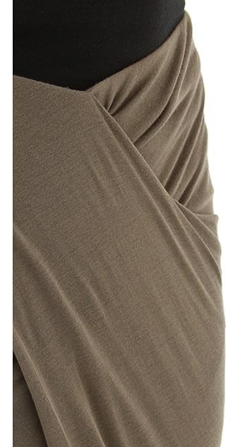 Helmut Lang Slack Jersey Wrap Skirt