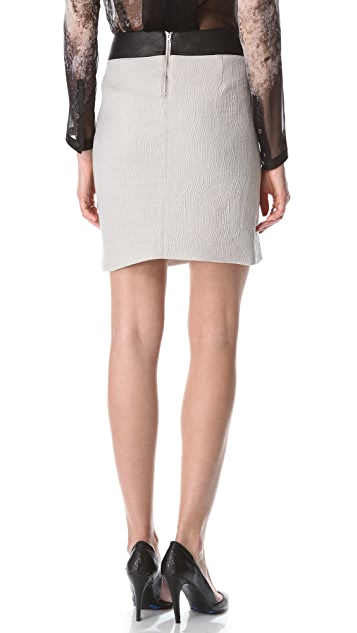 Helmut Lang Striped Jacquard Skirt