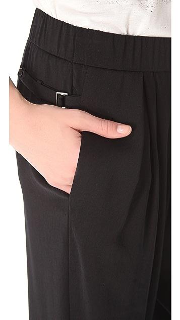 Helmut Lang Solar Drape Ruched Pants