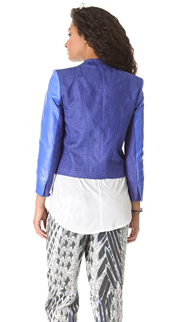Helmut Lang Varnish Jacquard Jacket