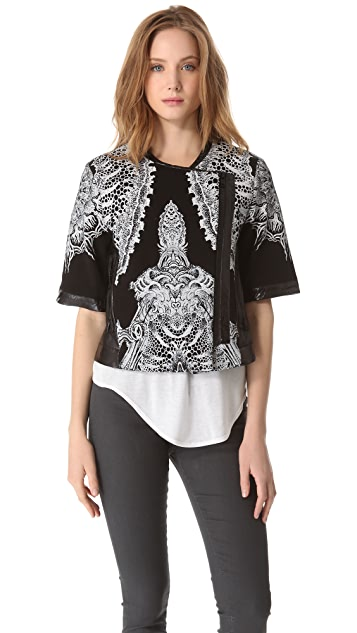 Helmut Lang Urchin Print Sweatshirt Jacket