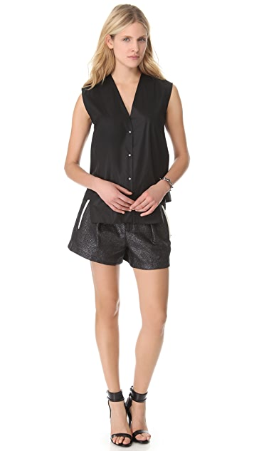 Helmut Lang Chintz Sleeveless Shirt