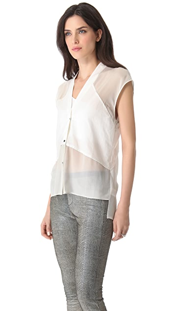 Helmut Lang Fissure Sleeveless Combo Top