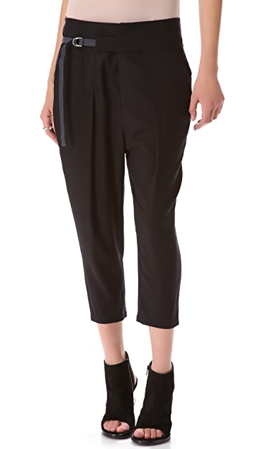 Helmut Lang Ark Suiting Cropped Pants