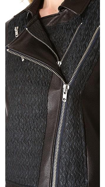 Helmut Lang Peak Cropped Biker Jacket