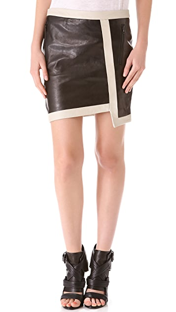 Helmut Lang Evolution Warped Leather Skirt