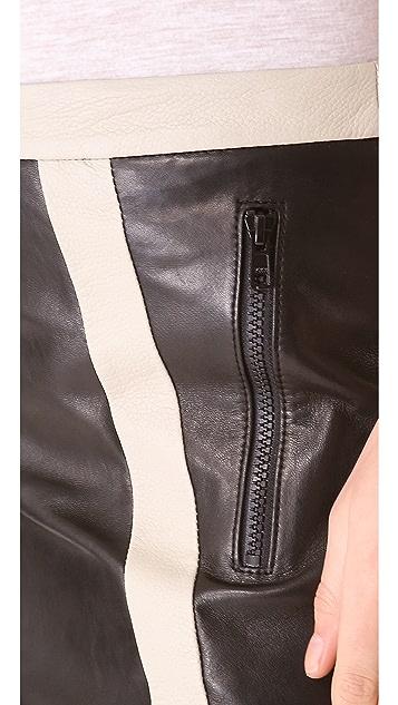 Helmut Lang Evolution Warped Leather Skirt