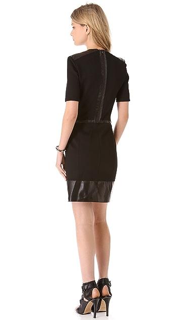 Helmut Lang Motion Slash Panel Dress