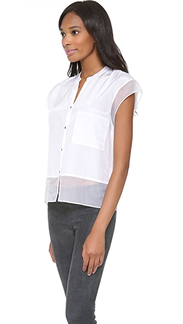 Helmut Lang Paneled Button Shirt