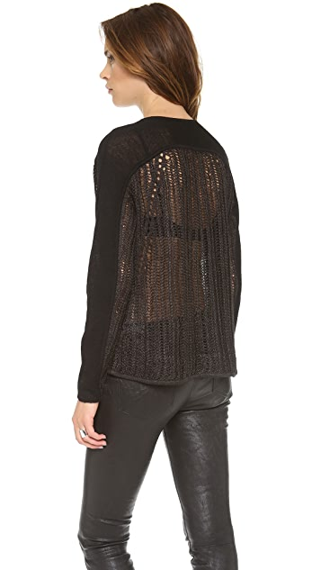 Helmut Lang Converging Textures Pullover