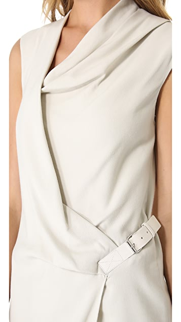 Helmut Lang Drape Front Dress