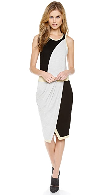 Helmut Lang Asymmetrical Drape Tank Dress