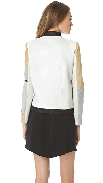 Helmut Lang Haircalf & Leather Jacket