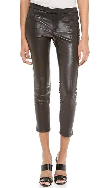 Helmut Lang Stretch Plonge Leather Pants