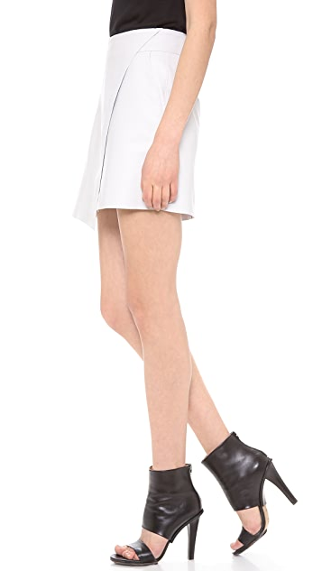 Helmut Lang Bonded Leather Miniskirt