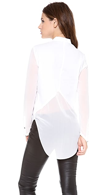 Helmut Lang Lawn Cotton Button Down