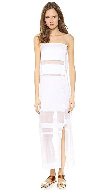 Helmut Lang Sheer Stripes Maxi Dress
