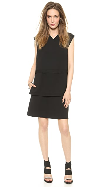 Helmut Lang Layered Suit Dress