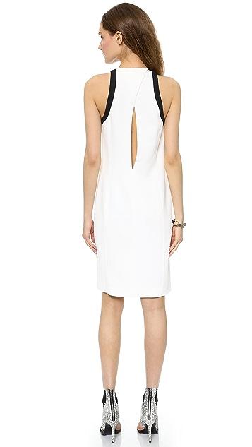 Helmut Lang Wrap Open Back Dress