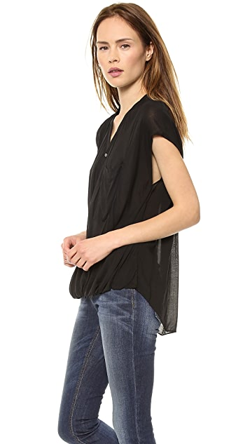 Helmut Lang Draped Angled Top