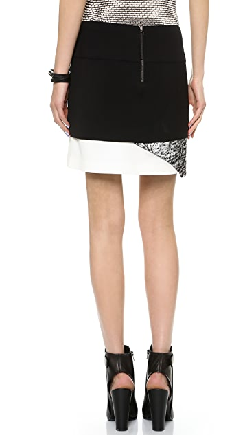 Helmut Lang Layered Print Skirt