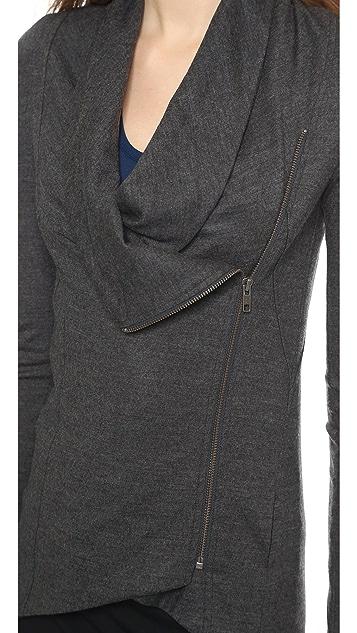 Helmut Lang Sonar Wool Shawl Collar Jacket