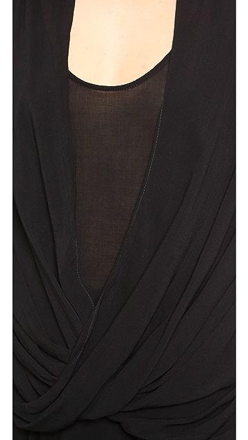 Helmut Lang Draped Overlap Dress