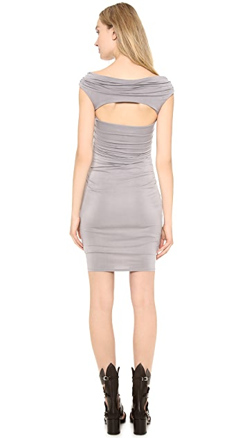 Helmut Lang Drape Scrunch Dress