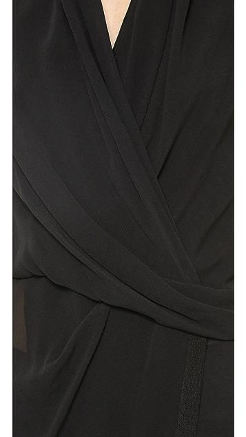 Helmut Lang Silk Wrap Top