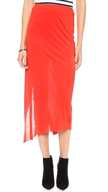 Helmut Lang Wrap Midi Skirt