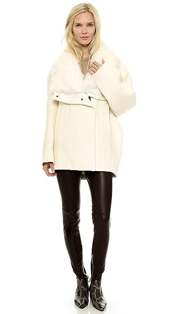 Helmut Lang Fur Collar Coat