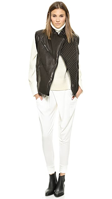 Helmut Lang Leather Puff Vest