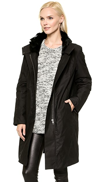 Helmut Lang Fur Lined Trench Coat