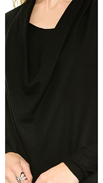 Helmut Lang Sonar Wool Dolman Dress