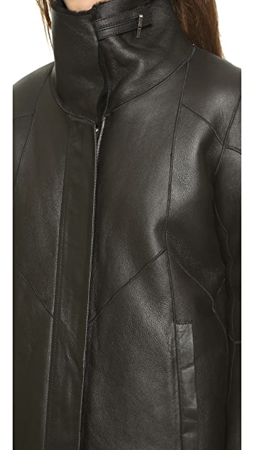 Helmut Lang Tuft Shearling Coat