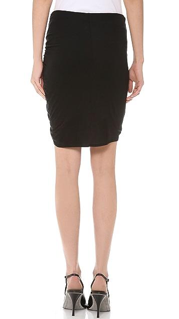 Helmut Lang Twist Slack Jersey Miniskirt