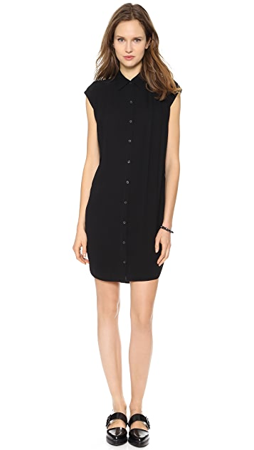 Helmut Lang Button Down Shirtdress
