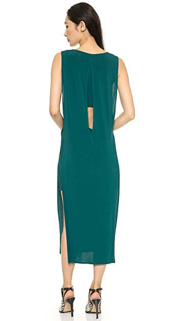 Helmut Lang High Slit Dress
