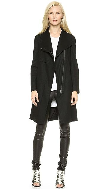 Helmut Lang Sonar Wool Trench Coat
