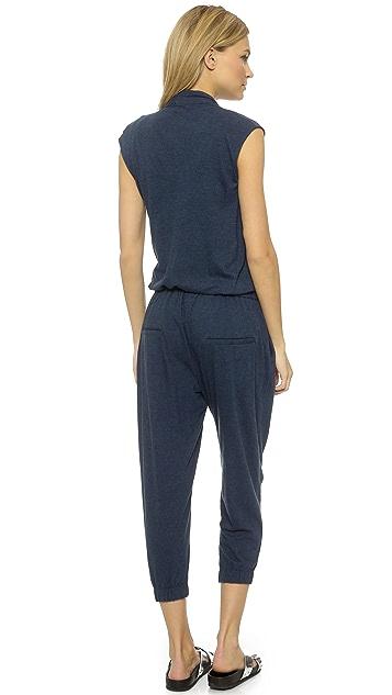 Helmut Lang Feather Jersey Jumpsuit