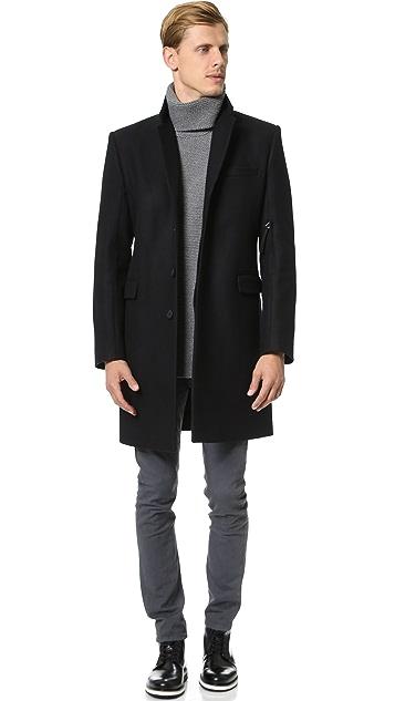 Helmut Lang Shield Melton Overcoat