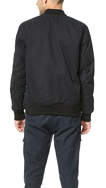 Helmut Lang Army Twill Padded Bomber Jacket
