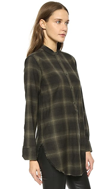 Helmut Lang Placket Tab Top