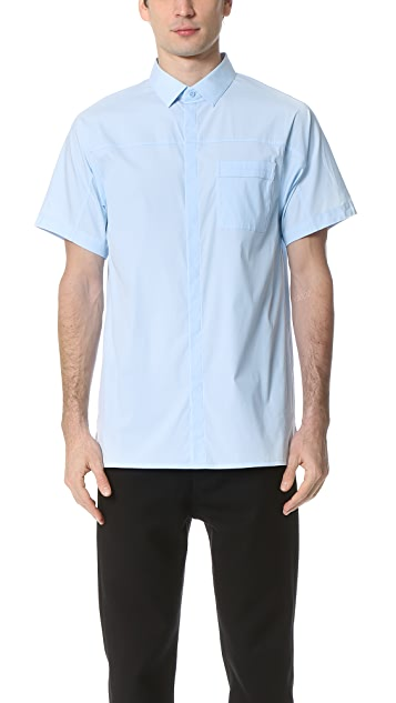 Helmut Lang Pocket Tab Stretch Short Sleeve Shirt