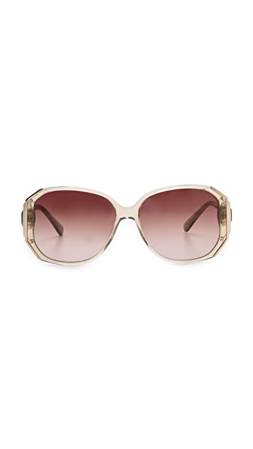 Heidi London Geometric Oversized Sunglasses