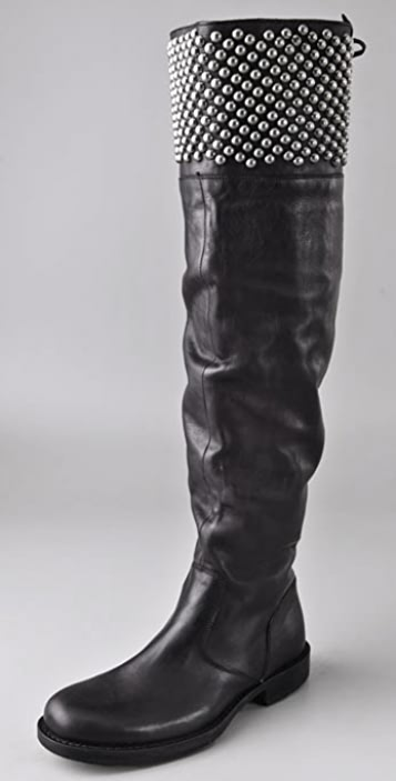Hollywood Trading Company Stud Over The Knee Boots
