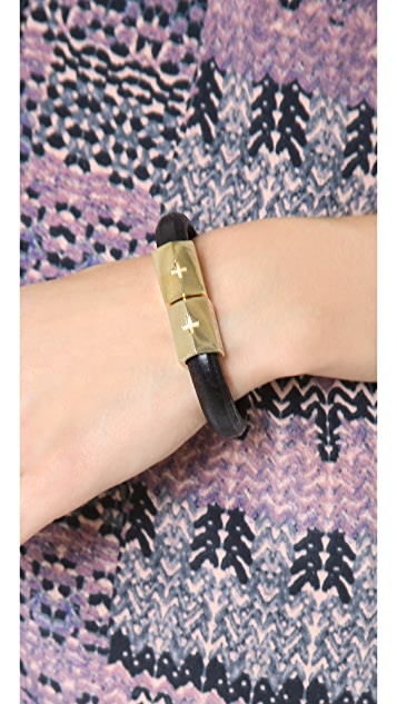 Holst + Lee Flat Leather Bracelet