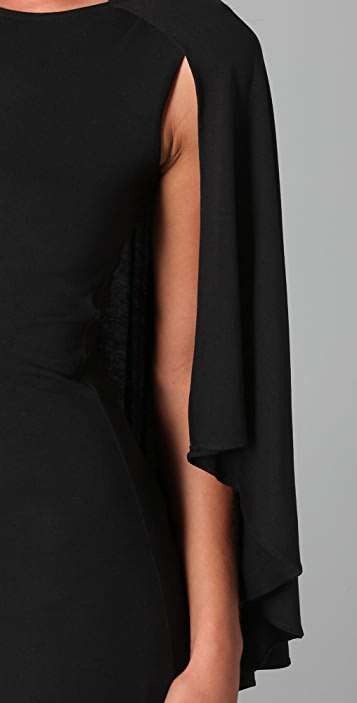 Holy Tee Gotham Dress with Cape Overlay